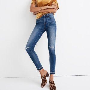 "NWT Madewell 9"" Skinny High Rise Jeans"